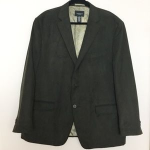 Van Heusen Brown Suede Sports Coat/Blazer 48R